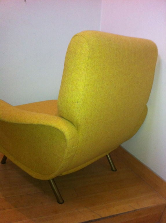 Marco Zanuso Vintage Lady Pair Of Chairs Recovered In Yellow image 8