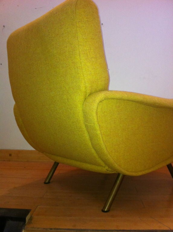Marco Zanuso Vintage Lady Pair Of Chairs Recovered In Yellow image 9