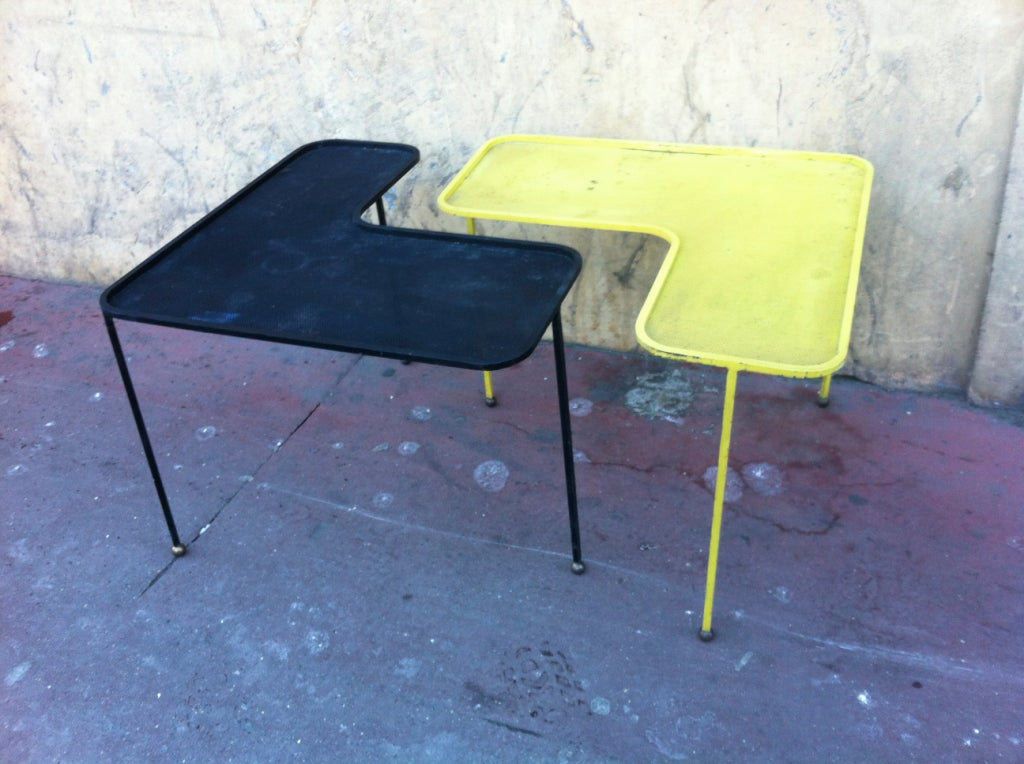 Mathieu Mat233got Domino Black and Yellow Coffee Tables at 1stdibs