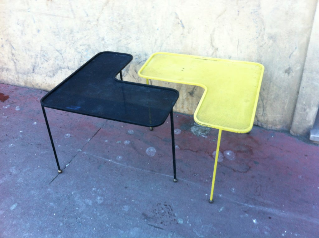 Mathieu Mategot Domino Black And Yellow Coffee Tables At 1stdibs