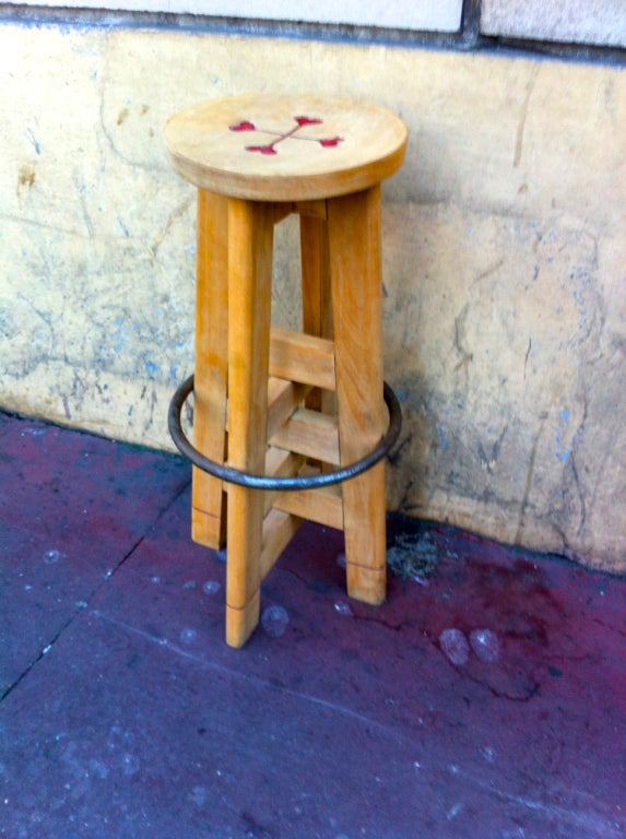 Jacques Le Meme Set Of Four Bar Stools For A Chalet In