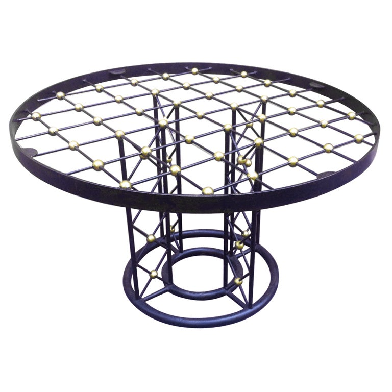 Jean Roy Re Tour Eiffel Rare Wrought Iron Round Coffee Table At 1stdibs
