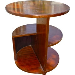 Francis Jourdain Modernist Cubist Mahogany Coffee Table