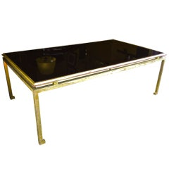Maison Ramsay Large Coffee Table in Gold Leaf Wrought Iron