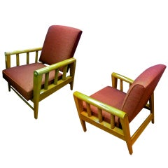 Louis Sognot Pair of Chairs with a Rocking Chair Position