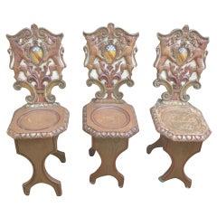 Three Scottish Baronial Hall Chairs