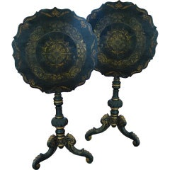 Pair of Chinoiserie Swedish Tilt-Top Tables