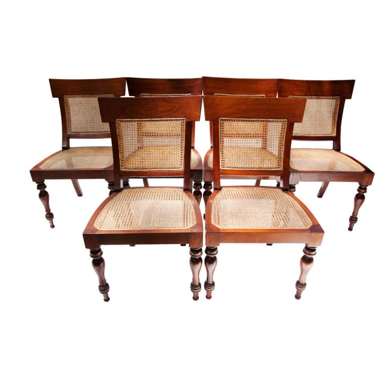 Mahogany British Colonial Side Chairs At 1stdibs