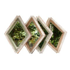 Four French Diamond-Shaped Mirrors