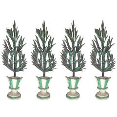 Four Italian Carved Decorative Trees