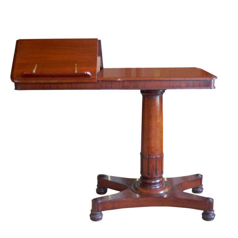 William IV Adjustable LibraryReading Table At 1stdibs