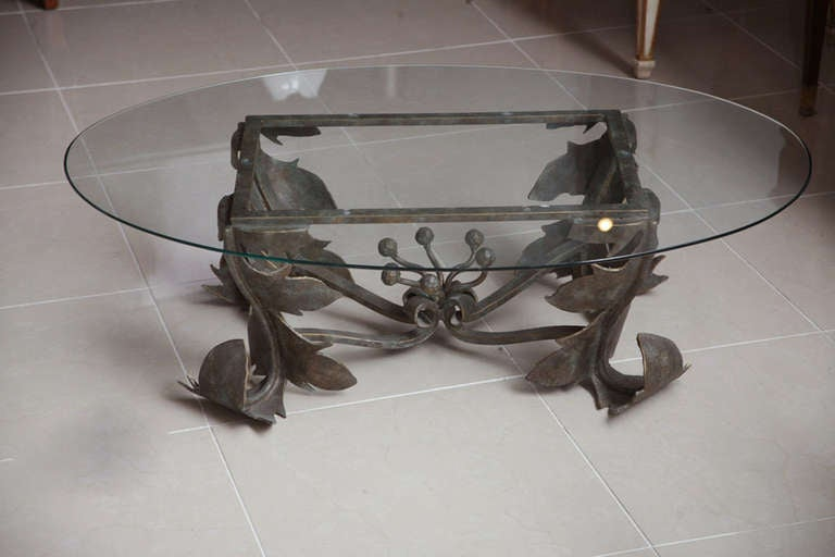 Hand forged low table for sale at stdibs