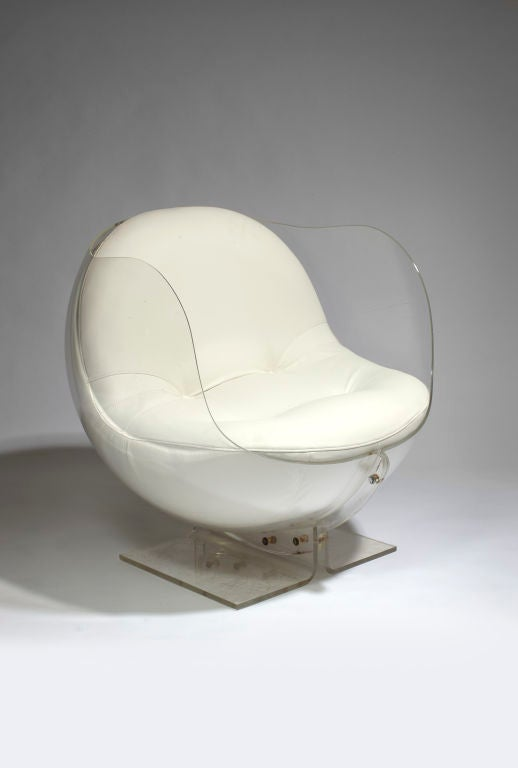 Armlesschair (out of a false pair) by Boris Tabakoff For Sale 1