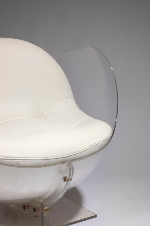 Armlesschair (out of a false pair) by Boris Tabakoff For Sale 2
