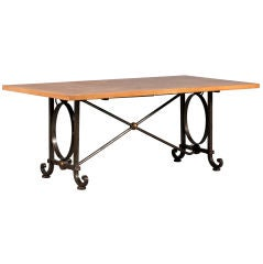 Dining table by Gilbert Poillerat
