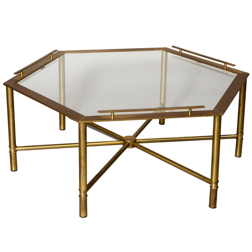 Bronze Hex Coffee Table At 1stdibs