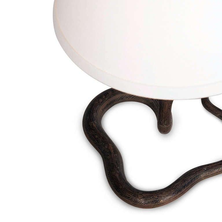 Bronze Cobra Lamps Pair At 1stdibs