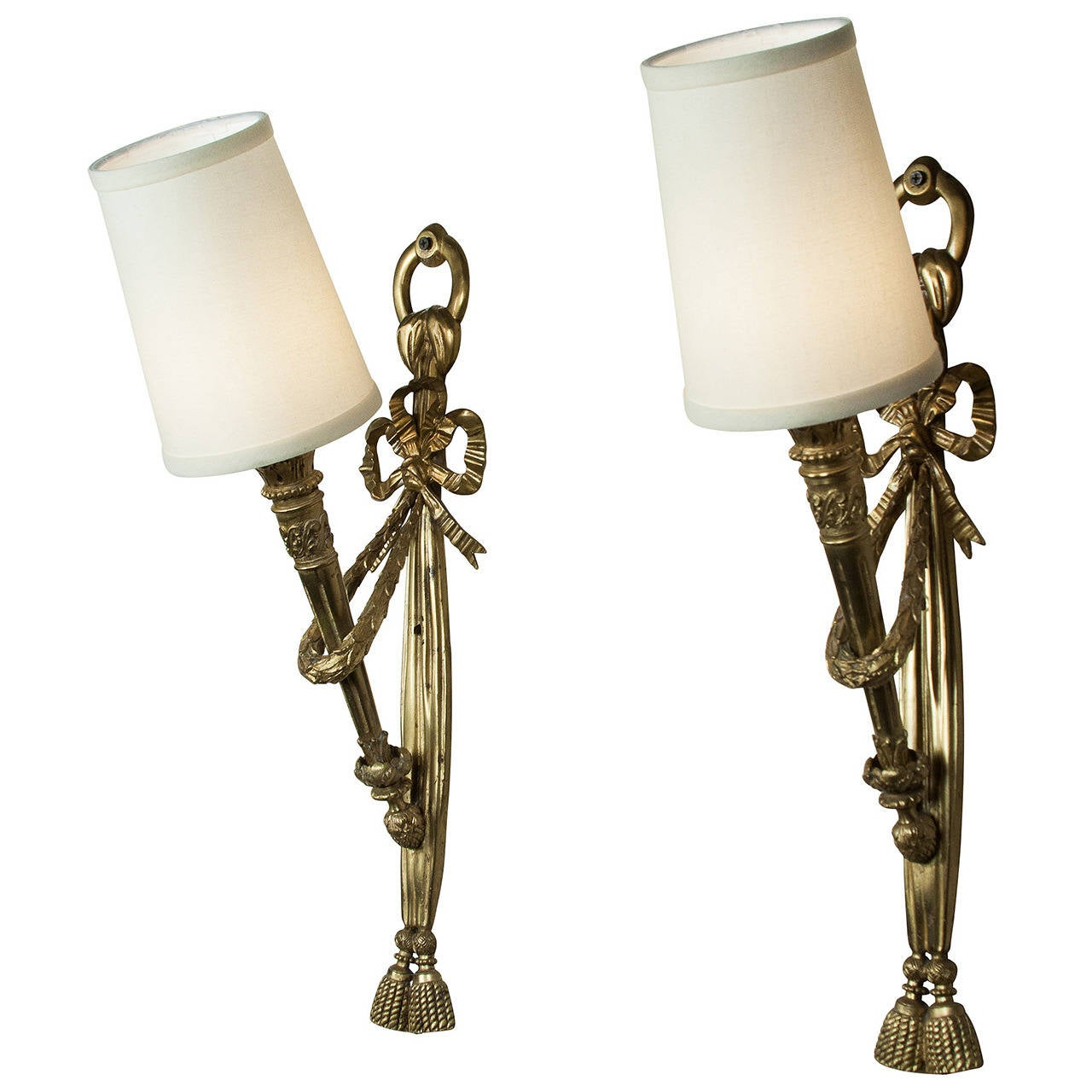 Large Torch Wall Lights : Pair of Tall Torch Wall Sconces For Sale at 1stdibs
