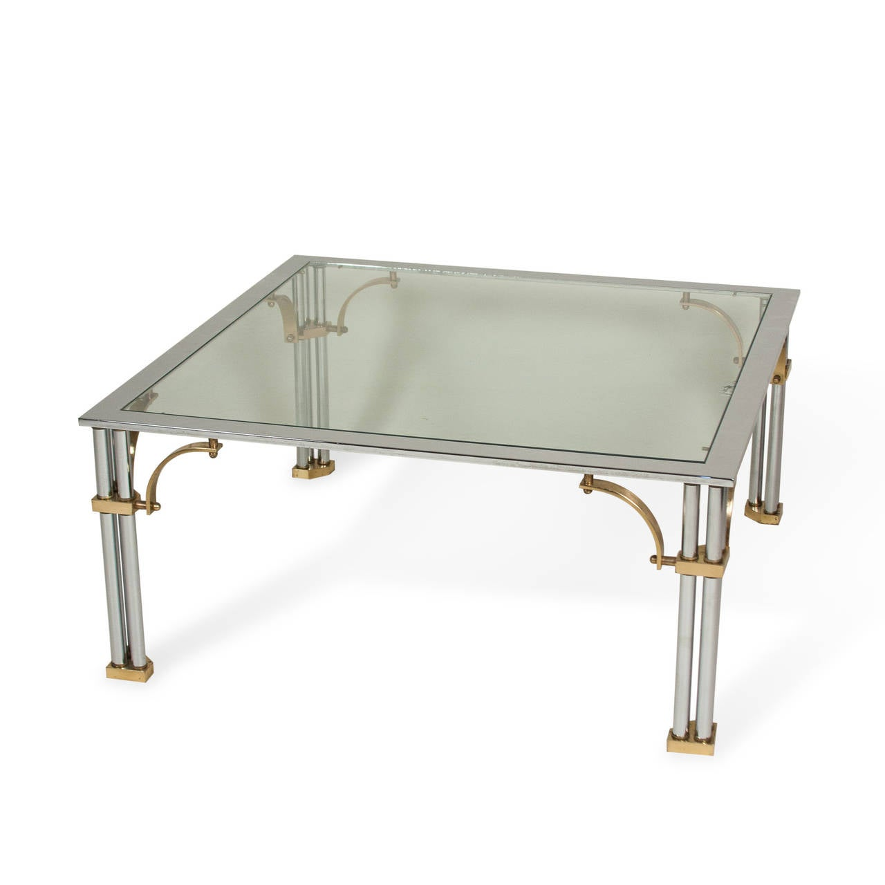 Chrome And Brass Coffee Table For Sale At 1stdibs