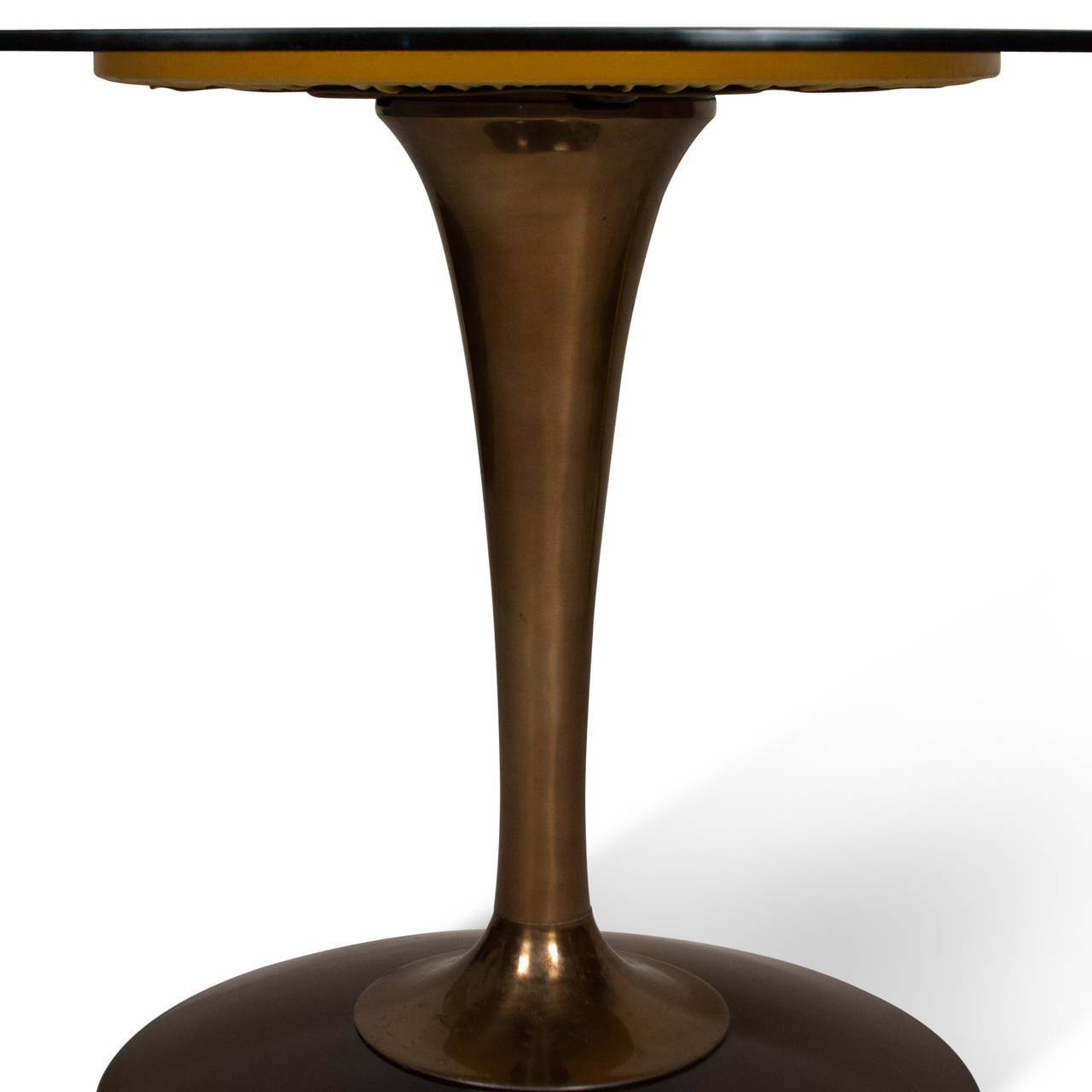 Amber Glass Top Tulip Dining Table and Chairs For Sale at  : 22867l from www.1stdibs.com size 1280 x 1280 jpeg 52kB