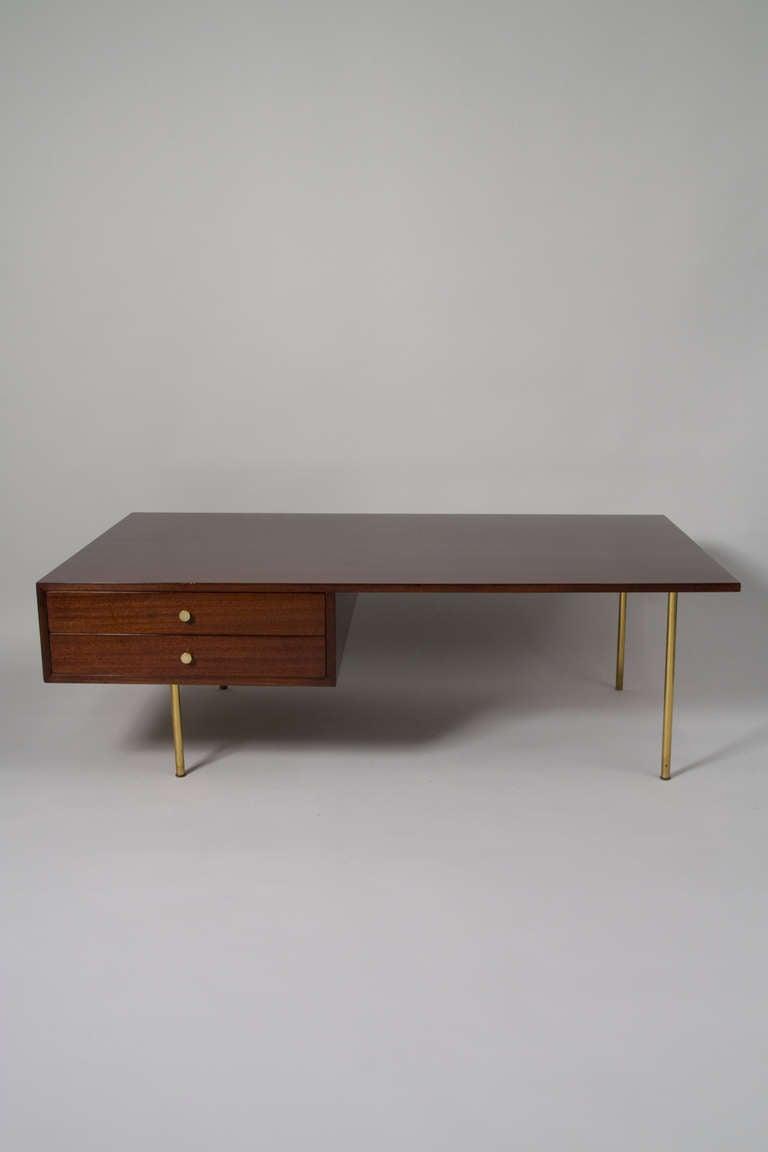 Mahogany Coffee Table By Harvey Probber At 1stdibs