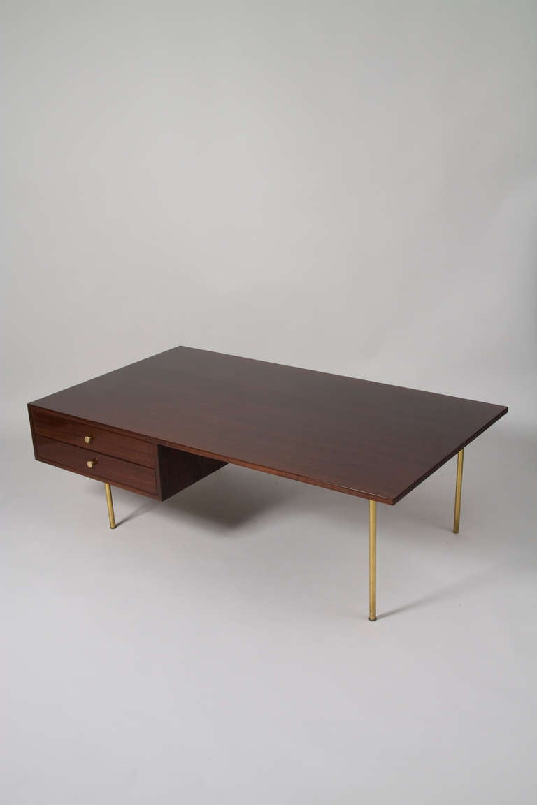 Mahogany Coffee Table By Harvey Probber At 1stdibs