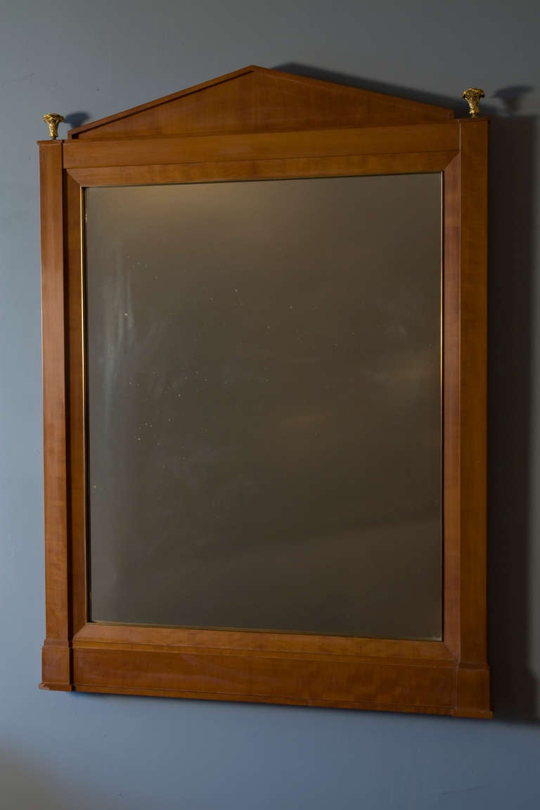 neoclassical style fruitwood frame mirror at 1stdibs