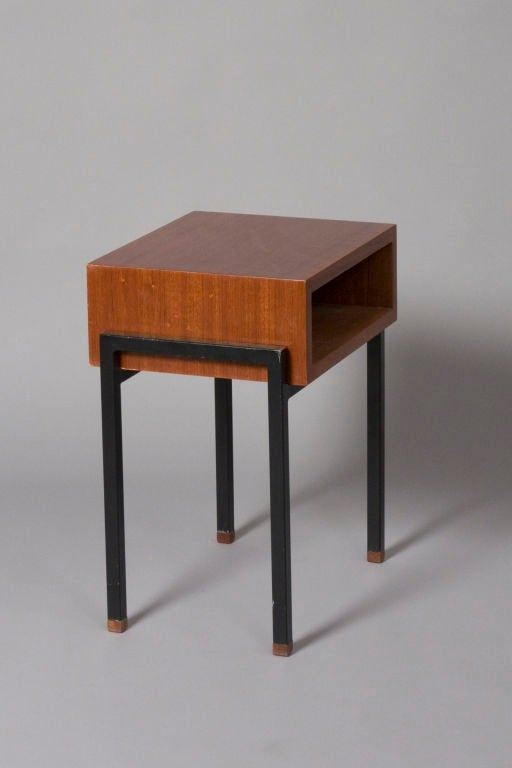 Petite Palissandre End Table by Alain Richard for Caminelle at 1stdibs -> Table Tele Palissandre
