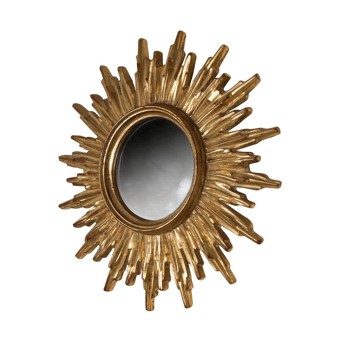 Small sunburst mirror at 1stdibs for Sunburst mirror
