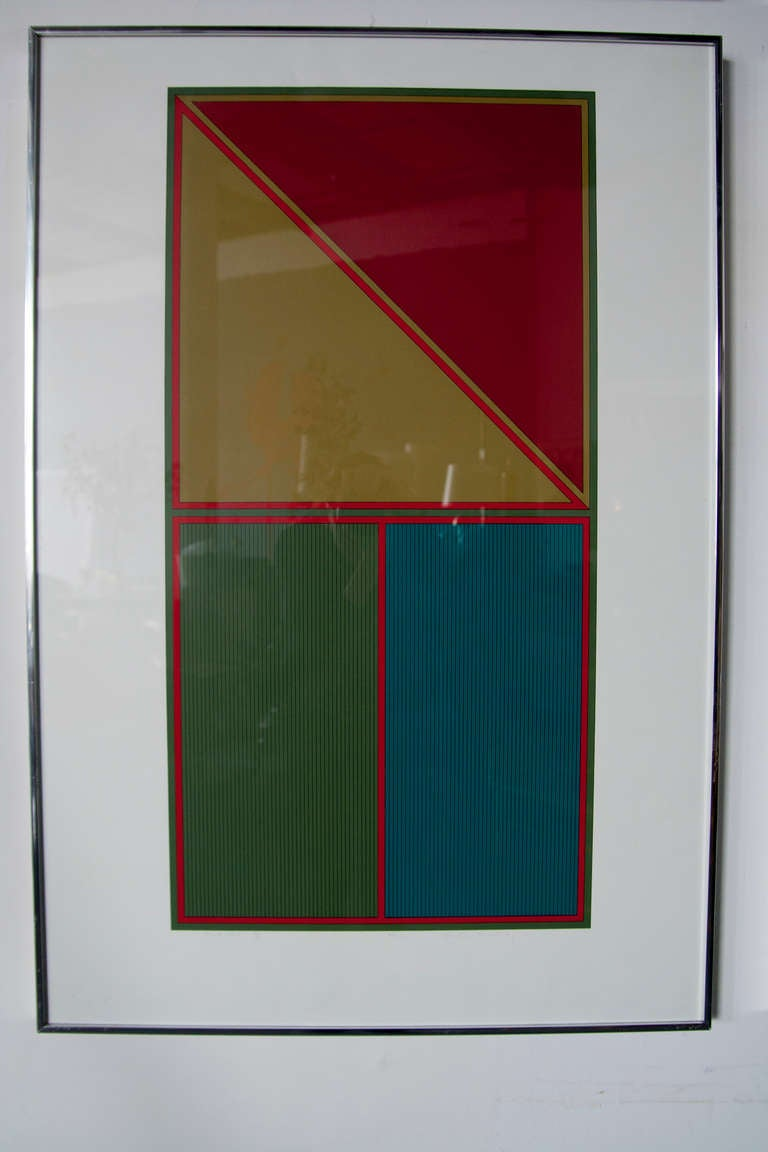 Set of Four Geometric Lithographs by Gordon House 2