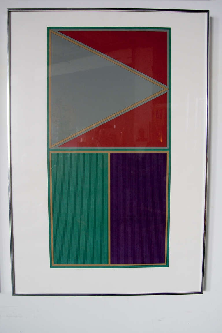 Set of Four Geometric Lithographs by Gordon House 3