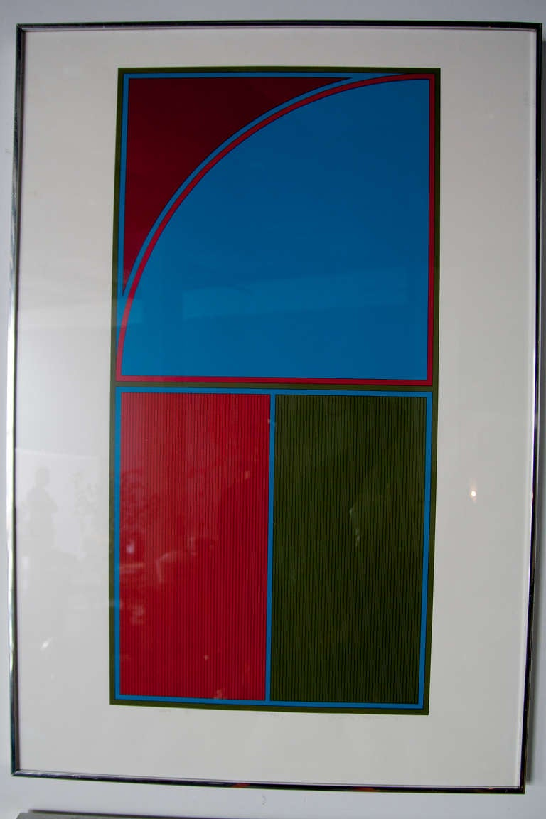 Set of Four Geometric Lithographs by Gordon House 4