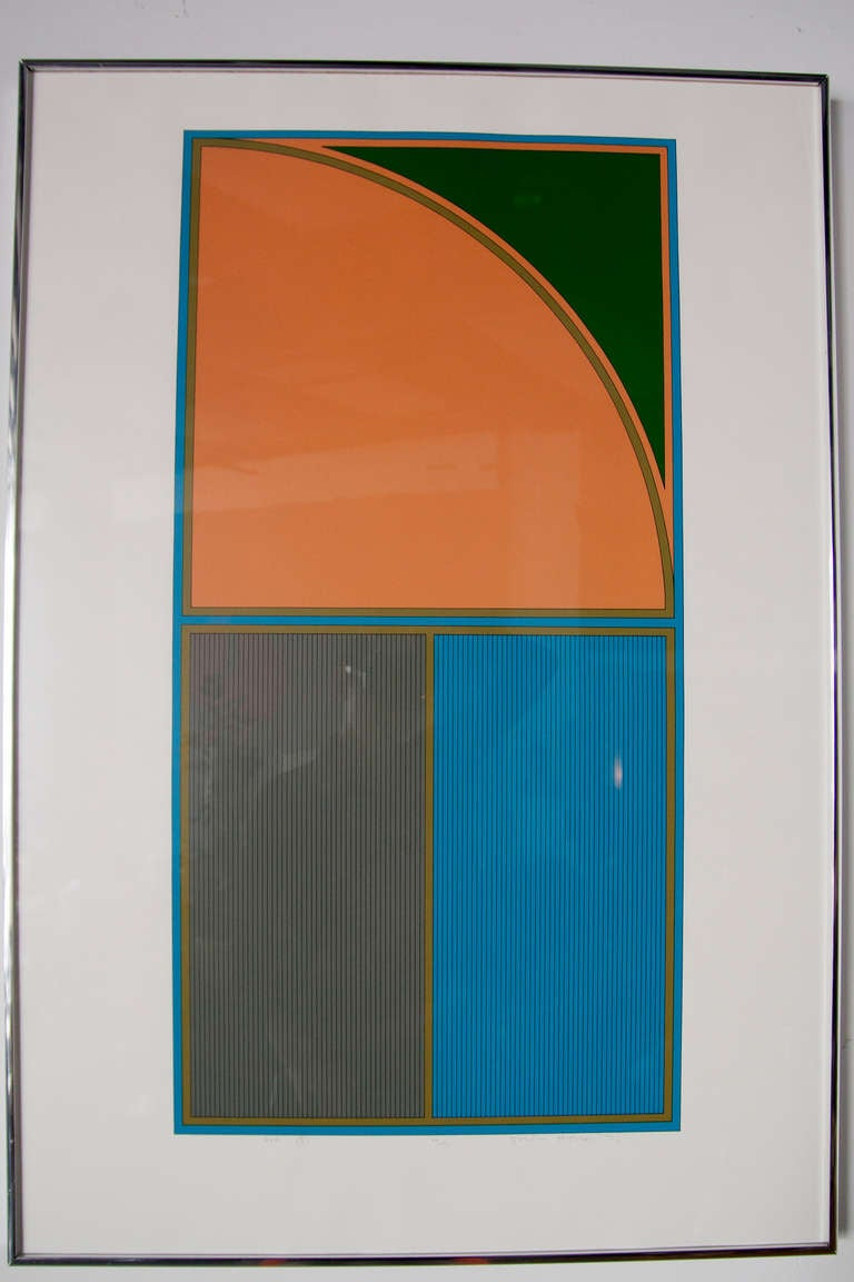 Set of Four Geometric Lithographs by Gordon House 5