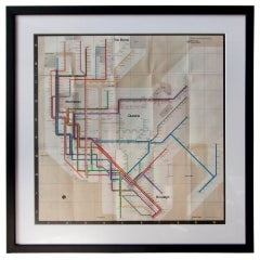 1972 NYC Subway Map by Massimo Vignelli