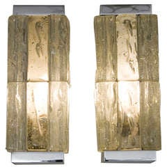 Chunky Glass Block Sconces by Perzel