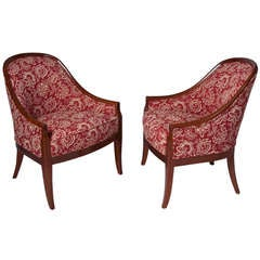 Pair of Upholstered Armchairs by Baker
