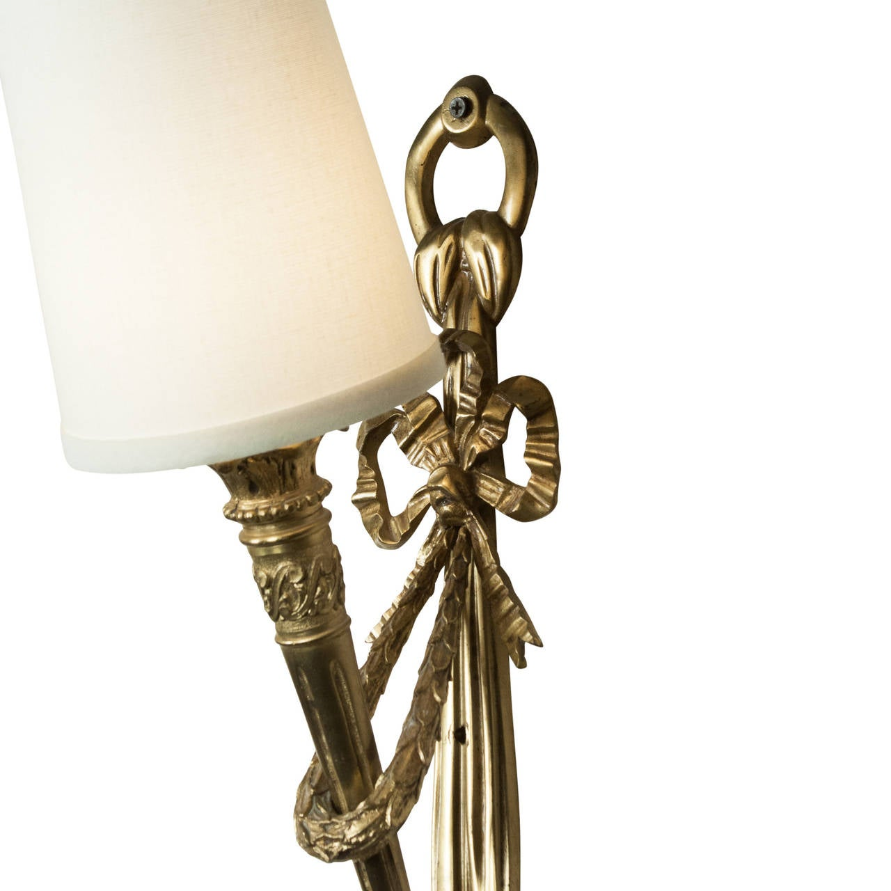 Pair of Tall Torch Wall Sconces at 1stdibs
