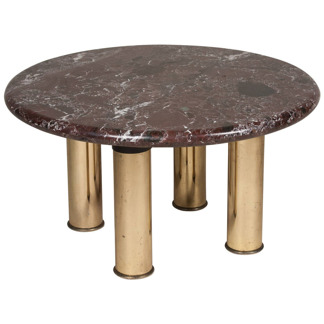 Nail Marble Top Coffee Table: Marble-Top Circular End Table At 1stdibs