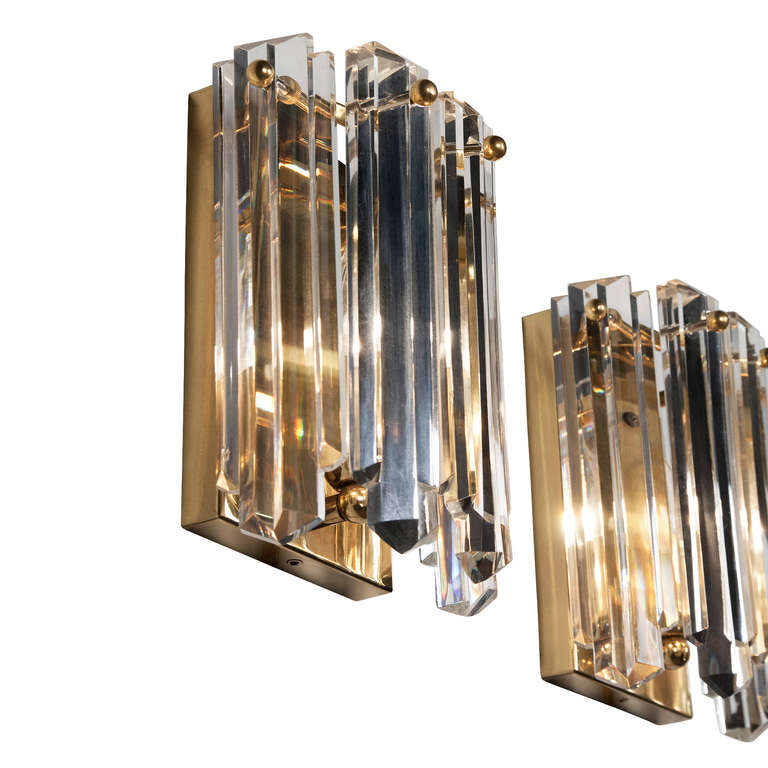 Wall Sconces With Hanging Crystals : Pair of Kalmar Hanging Crystal Sconces at 1stdibs