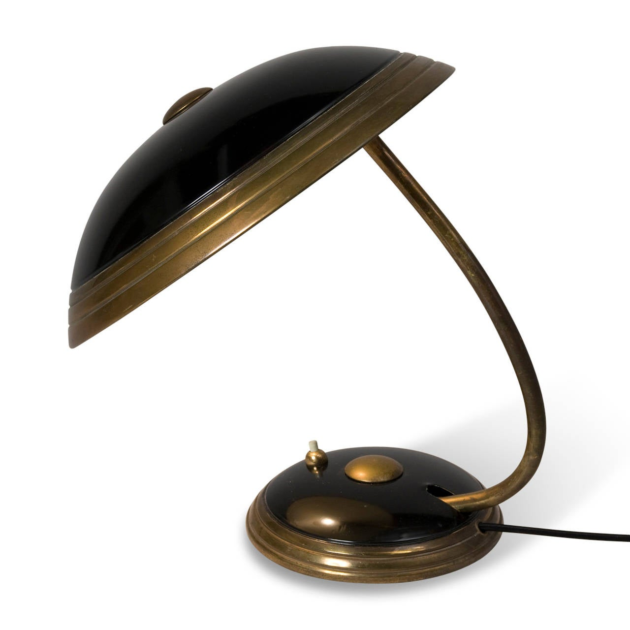 Black Dome Pivoting Desk Lamp By Helo At 1stdibs
