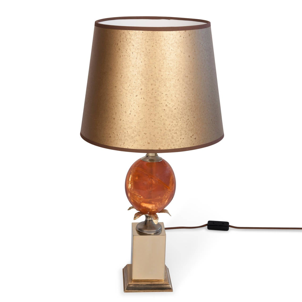 Fractured Resin Table Lamp French 1970s At 1stdibs
