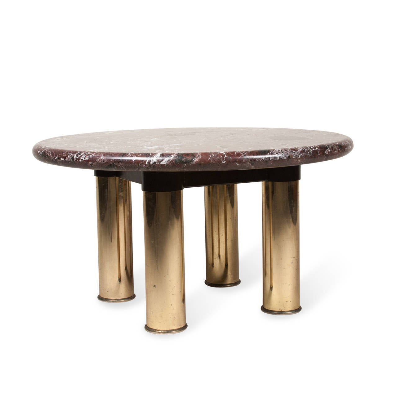 Marble Top Coffee And End Tables: Marble Top Circular End Table At 1stdibs