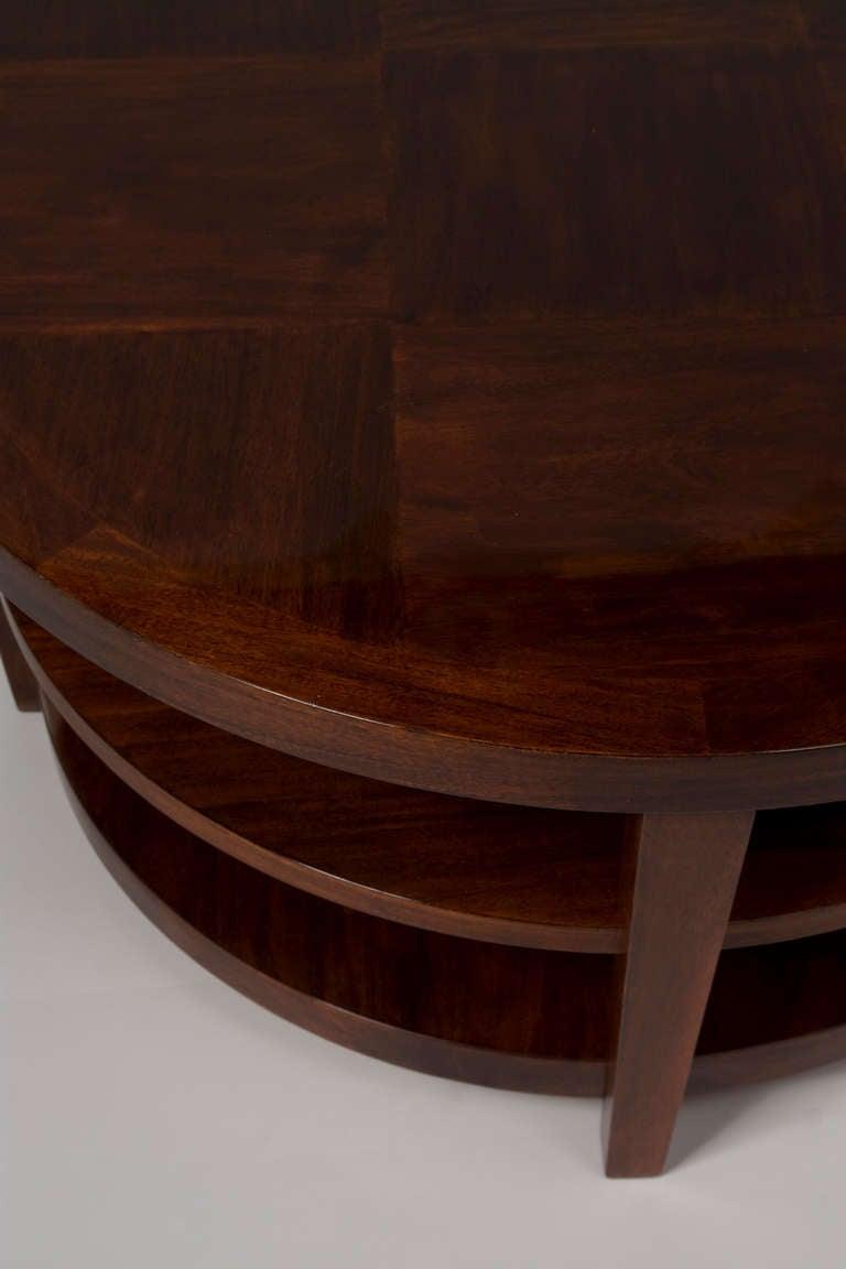 Circular Three Tier Mahogany Coffee Table At 1stdibs