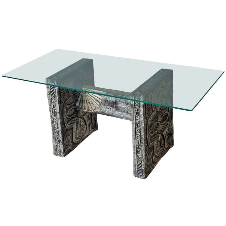 Cast Resin Coffee Table At 1stdibs
