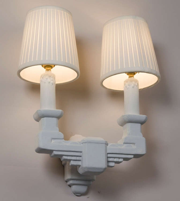 Two Arm Plaster Sconces at 1stdibs