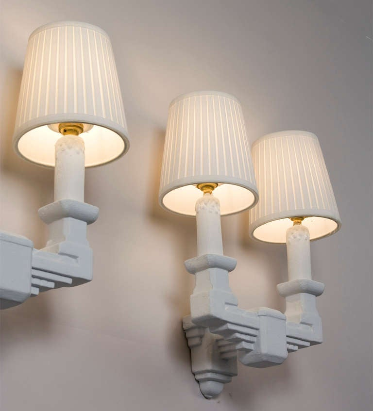 Wall Sconces Plaster : Two Arm Plaster Sconces at 1stdibs