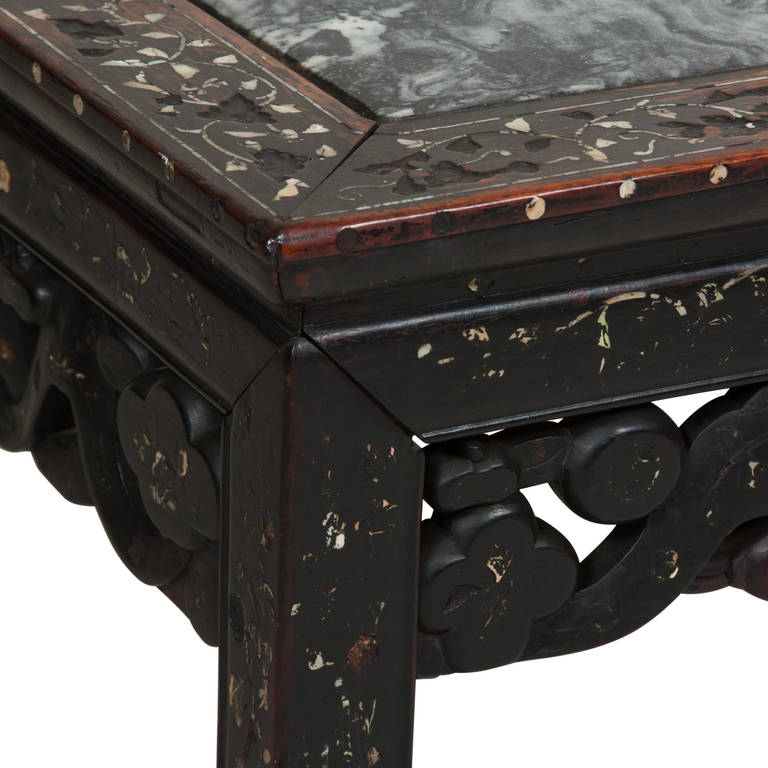 Marquetry Marble Coffee Table: Marble Inlay Coffee Table At 1stdibs