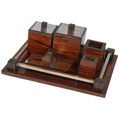 Macassar Desk Set