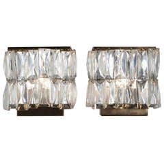 Faceted Drop Crystal Wall Sconces