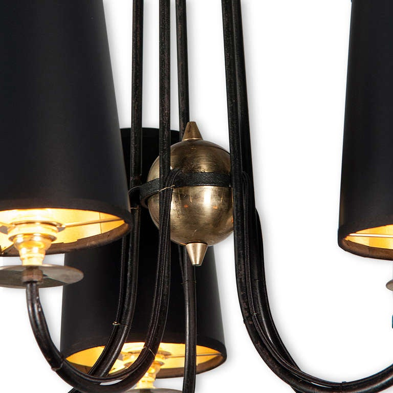 Royere Style Iron Chandelier At 1stdibs